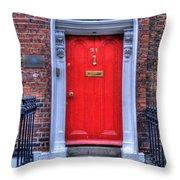 Red Door Dublin Ireland Throw Pillow