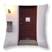 Red Doors Of Tucson Throw Pillow