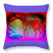 This Red Dragon Is Hot And Ready To Fly Off  Throw Pillow