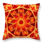 Red Dynasty Throw Pillow