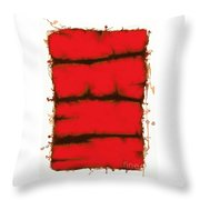 Red Element Throw Pillow