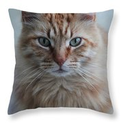 Red Throw Pillow by Ella Char