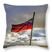 Red Ensign Throw Pillow