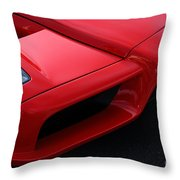 Red Enzo Throw Pillow