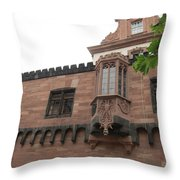 Red Facade Throw Pillow