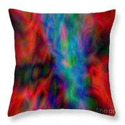Red Face Abstract Throw Pillow