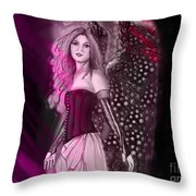 Red Fairy Throw Pillow