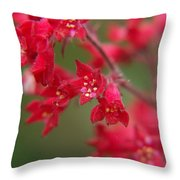 Red Fairy Trumpets Throw Pillow