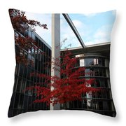 Red Fall Tree Throw Pillow