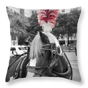Red Feathers Throw Pillow