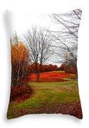 Red Field Autumn Throw Pillow