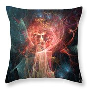Red Fire Angels With Tower #1 Throw Pillow