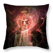 Red Fire Angels With Tower #2 Throw Pillow