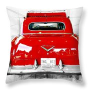 Red Fleetwood Throw Pillow