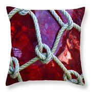 Red Float Throw Pillow