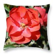Red Flower I Throw Pillow
