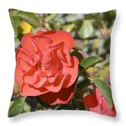 Red Flower IIi Throw Pillow