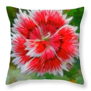 Red Flower Macro Throw Pillow