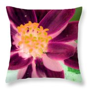 Red Flower - Photopower 256 Throw Pillow