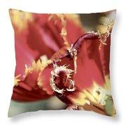 Red Flower Throw Pillow
