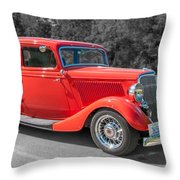 Red Ford 3d21740 Throw Pillow