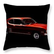 Red Ford Capri Throw Pillow