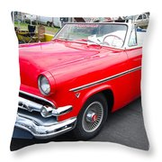 Red Ford Convertible Throw Pillow