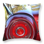 Red Ford Tailight Throw Pillow
