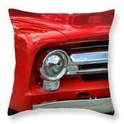 Red Ford Truck Throw Pillow
