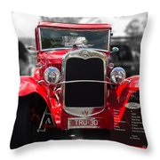 Red Ford Ute Throw Pillow