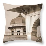 Red Fort Throw Pillow