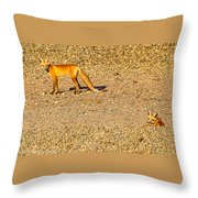 Red Foxes Throw Pillow