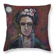 Red Frida 2013 Throw Pillow