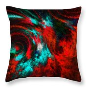 Red Fury Throw Pillow