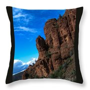 Red Giants Throw Pillow