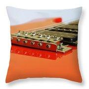 Red Giutar Throw Pillow