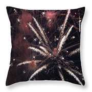 Red Glare Throw Pillow