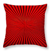 Red Glass Abstract 1 Throw Pillow