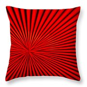 Red Glass Abstract 3 Throw Pillow