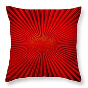 Red Glass Abstract 4 Throw Pillow