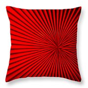 Red Glass Abstract 5 Throw Pillow