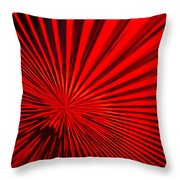 Red Glass Abstract 6 Throw Pillow