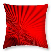 Red Glass Abstract 7 Throw Pillow