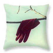 Red Glove Throw Pillow