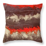 Red Gold And Brown Abstract Throw Pillow