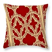 Gothic Pattern On Red Throw Pillow