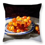 Red Grapes On Chinese Dsh Throw Pillow