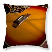 Red Guitar In Shadow Throw Pillow