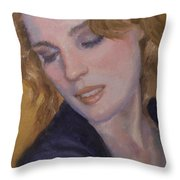 Red Hair Throw Pillow
