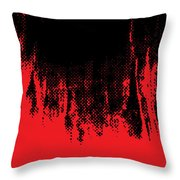 Red Halftone 1 Throw Pillow